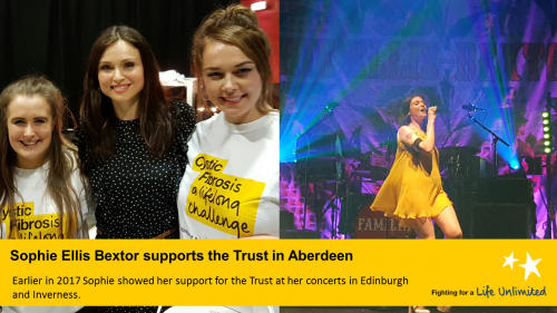 Sophie Ellis Bextor supports the Trust in Aberdeen