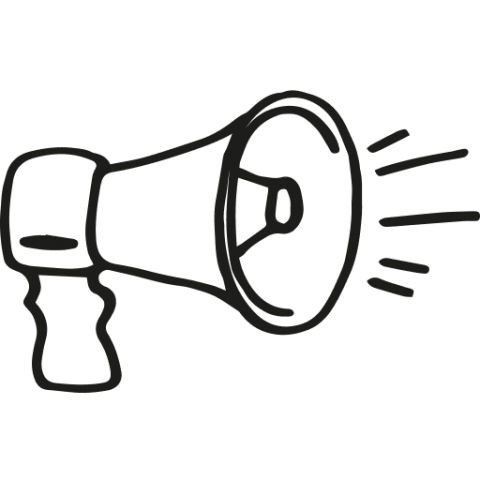 Illustrations of a megaphone
