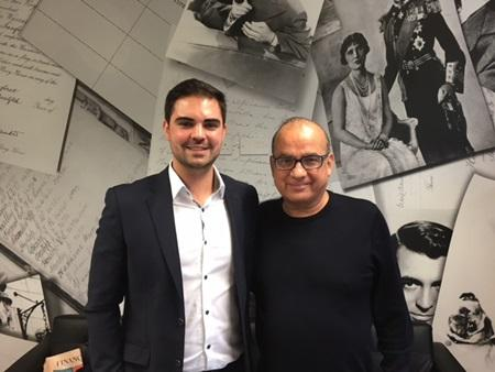 Chris Frappell and Touker Suleyman