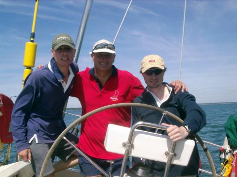 Cliff Michael and Daniel Round the Island Race